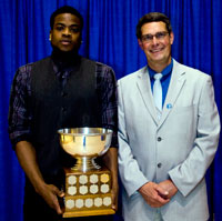 Male Athlete of the Year, Shane Rowe with Bob Greer