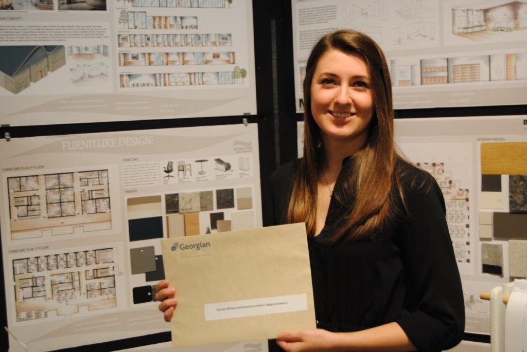 Madison Taylor with project at DVA Scholarship Show