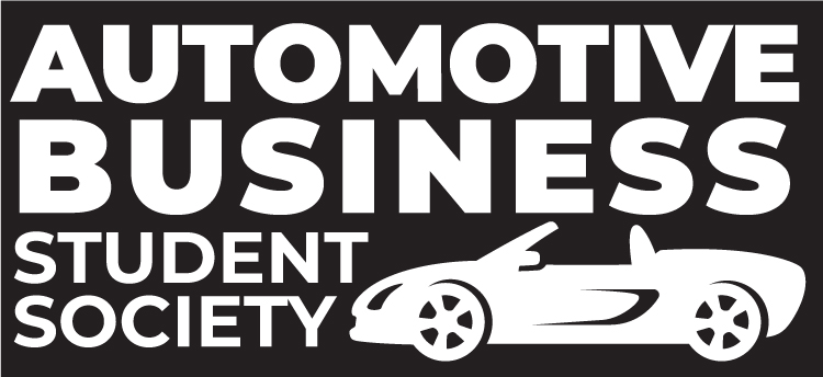 Automotive Business Student Society logo featuring a car