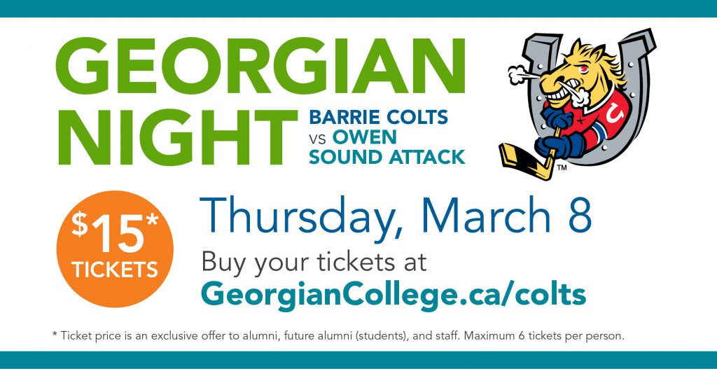 Georgian Night: Barrie Colts vs. Owen Sound Attack, March 8