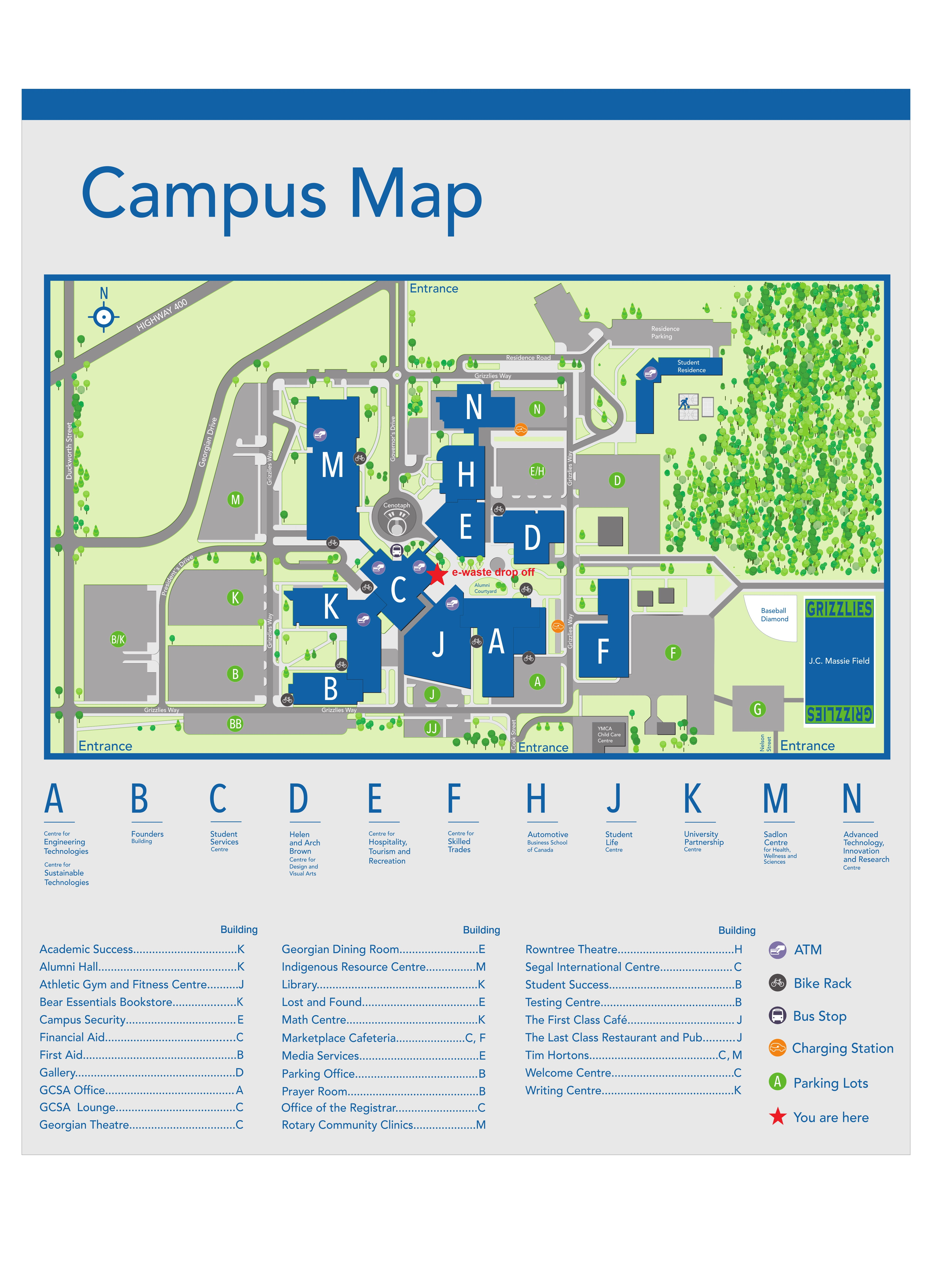 Georgian College Barrie Campus Map Electronic waste collection   Georgian College