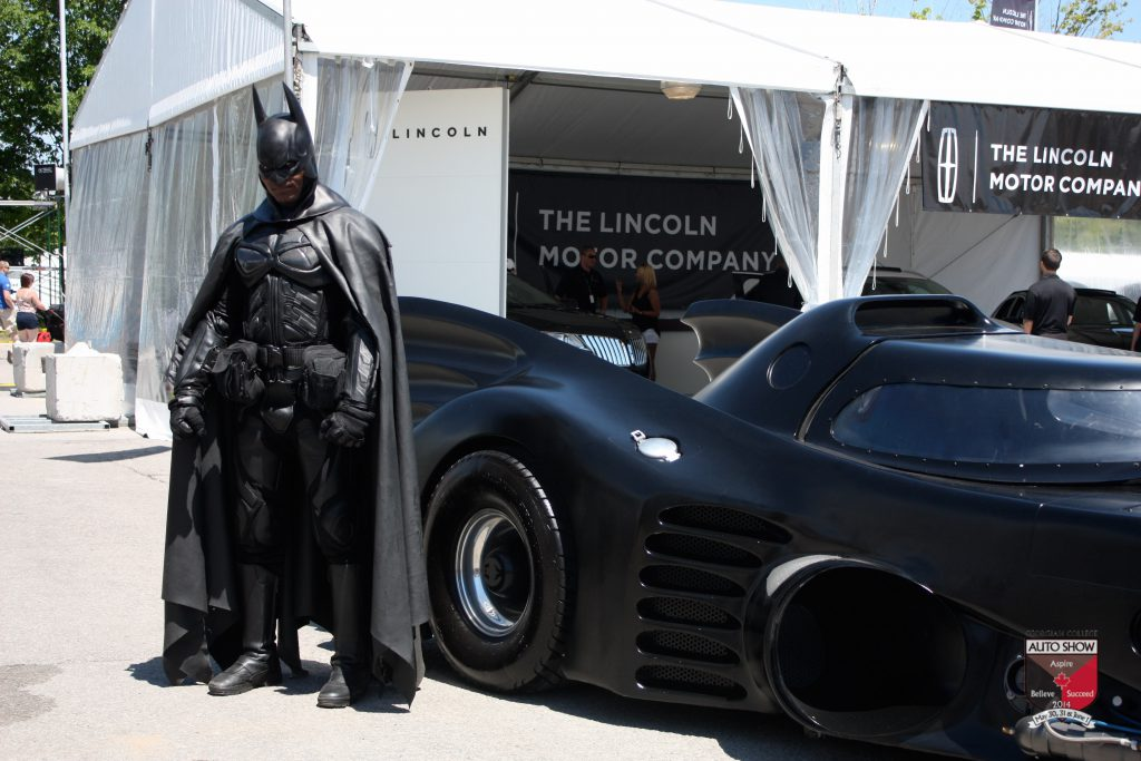 Batman and the Batmobile at the Georgian College Auto Show