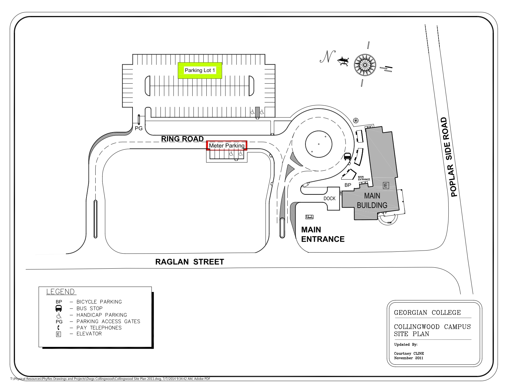 Collingwood campus map