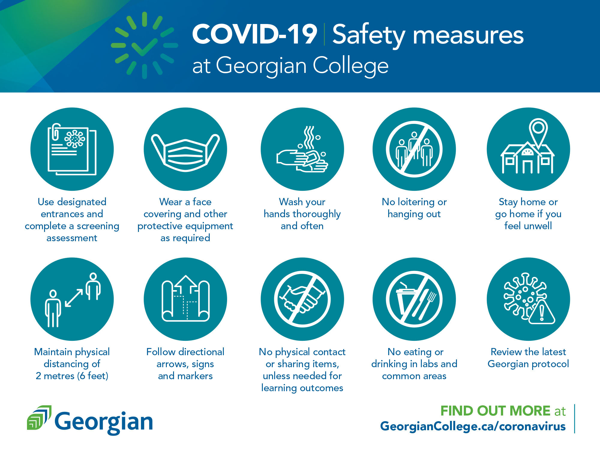 COVID-19 safety measures at Georgian College