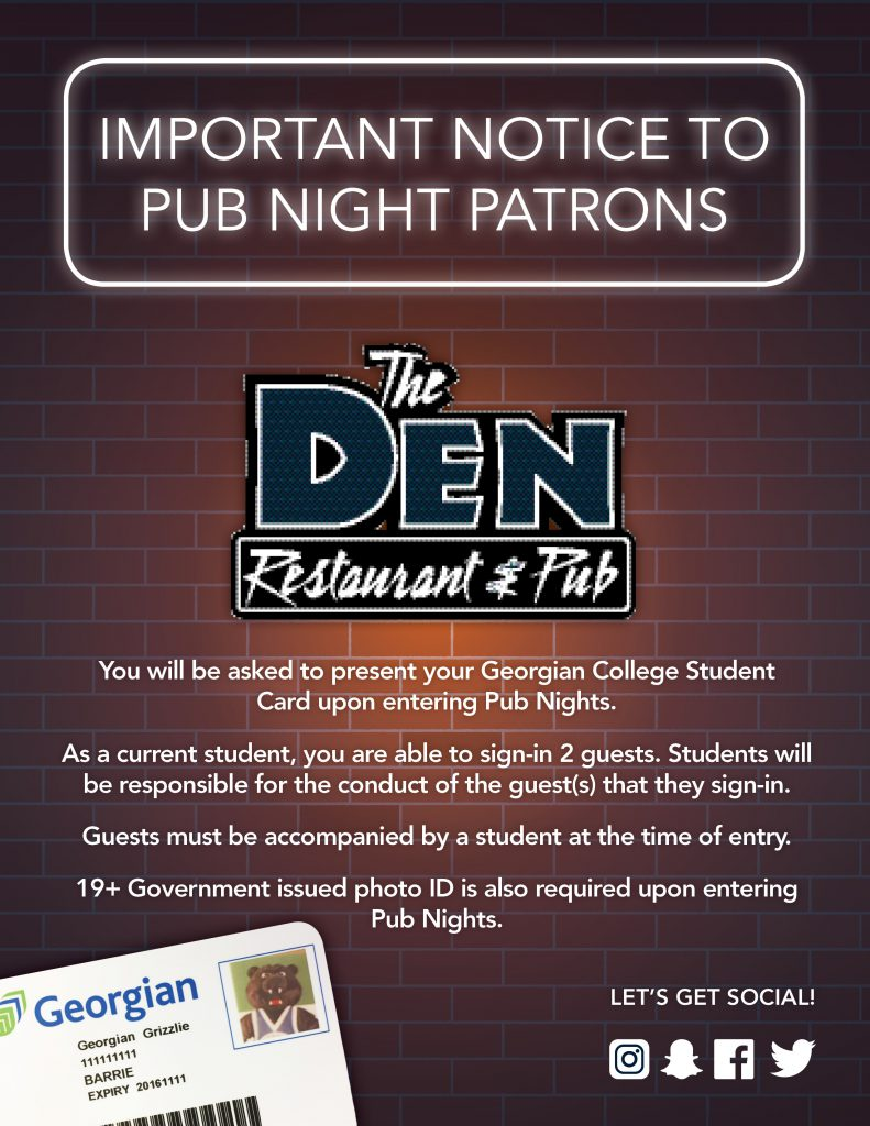 Den New student card policy