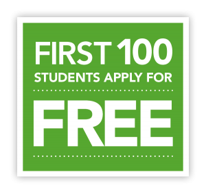 The first one hundred students apply for free