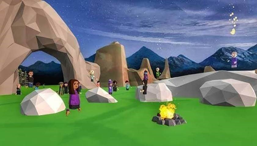 Indigenous community in virtual reality