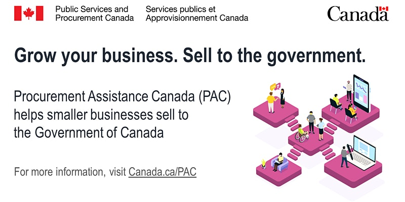 Public Services and Procurement Canada flyer: Grow your business. Sell to the government.